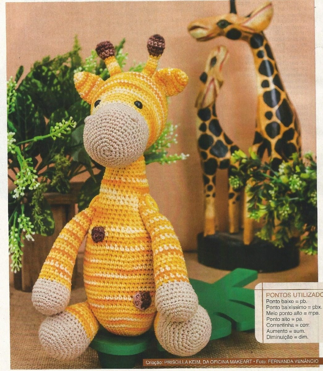 Girafa Amigurumi Crochê   Girafa, Bichinhos de croche, Amigurumi   1200x1045