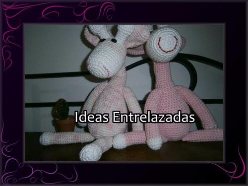 amigurumi crochet, artesanal, jirafa