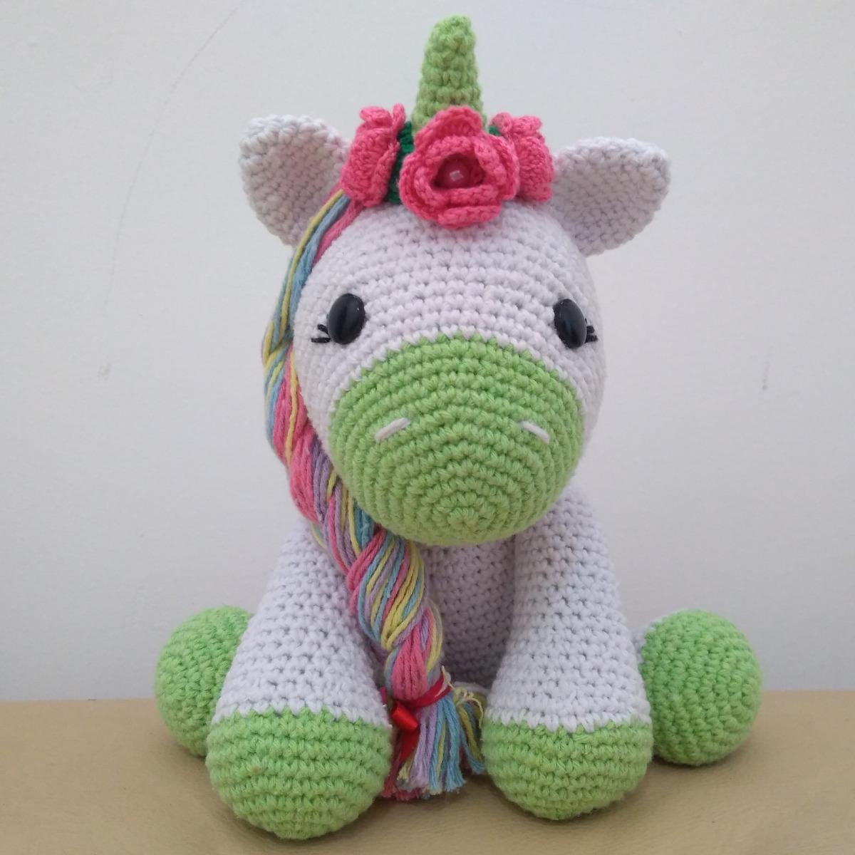 Unicornio Muñeco Peluche Tejido Crochet Amigurumi Sentado ... | 1200x1200