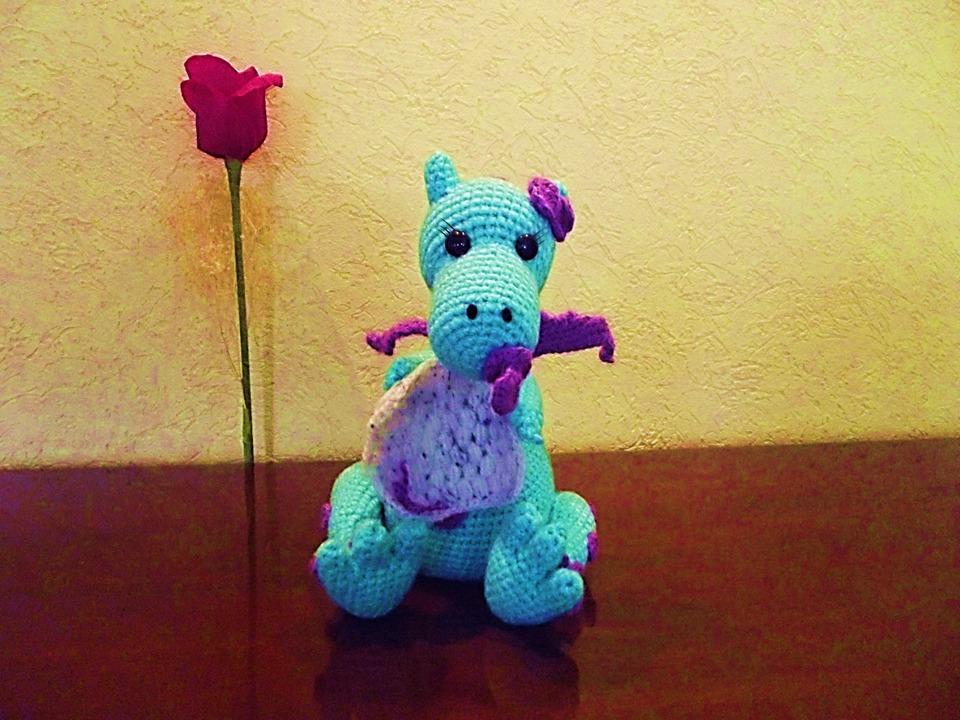 Acheter Crochet Amigurumi Dragon Bébé Peluche Animaux Poupée ... | 720x960