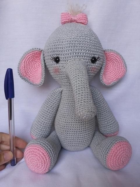 Amigurumi - elefante menina no Elo7   Anabu Crochet (B6838F)   640x480