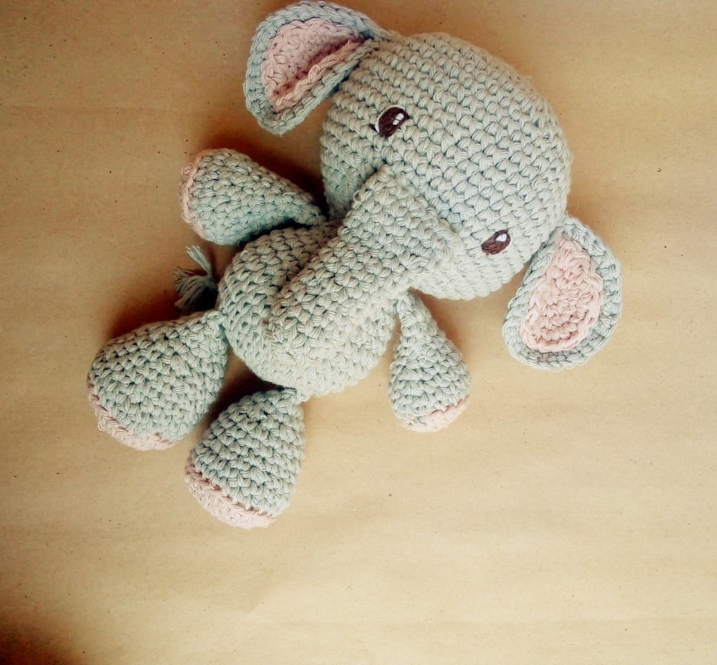 Amigurumi - elefante menina no Elo7 | Anabu Crochet (B6838F) | 960x1035