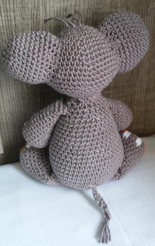 Elefante Animal Bebé Deco Amigurumi Crochet Muñeco De Apego ... | 796x502