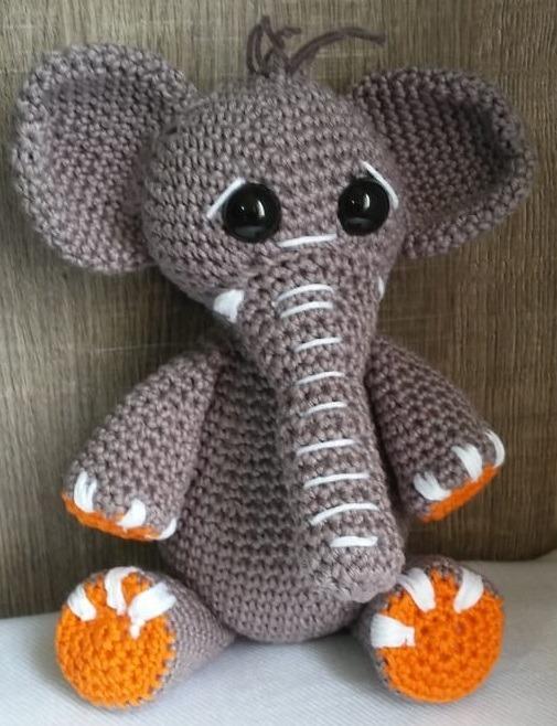 Elefante De Croche Amigurumi - R$ 160,00 em Mercado Livre | 658x505