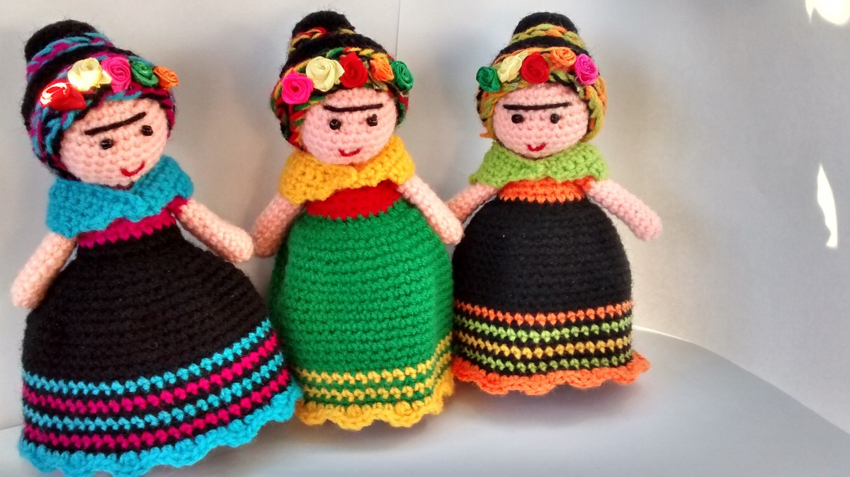 Amigurumi Frida Kahlo : Tutorial prendedor frida youtube