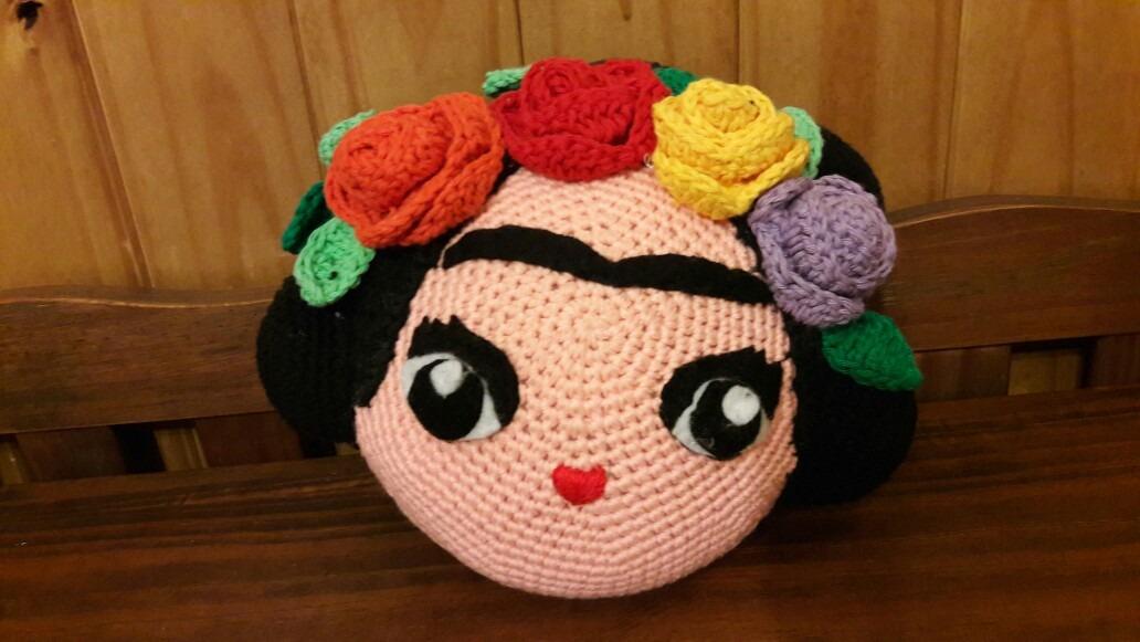 Amigurumis Frida Kahlo : Amigurumi frida kahlo almohadón tejido al crochet $ 390 00 en