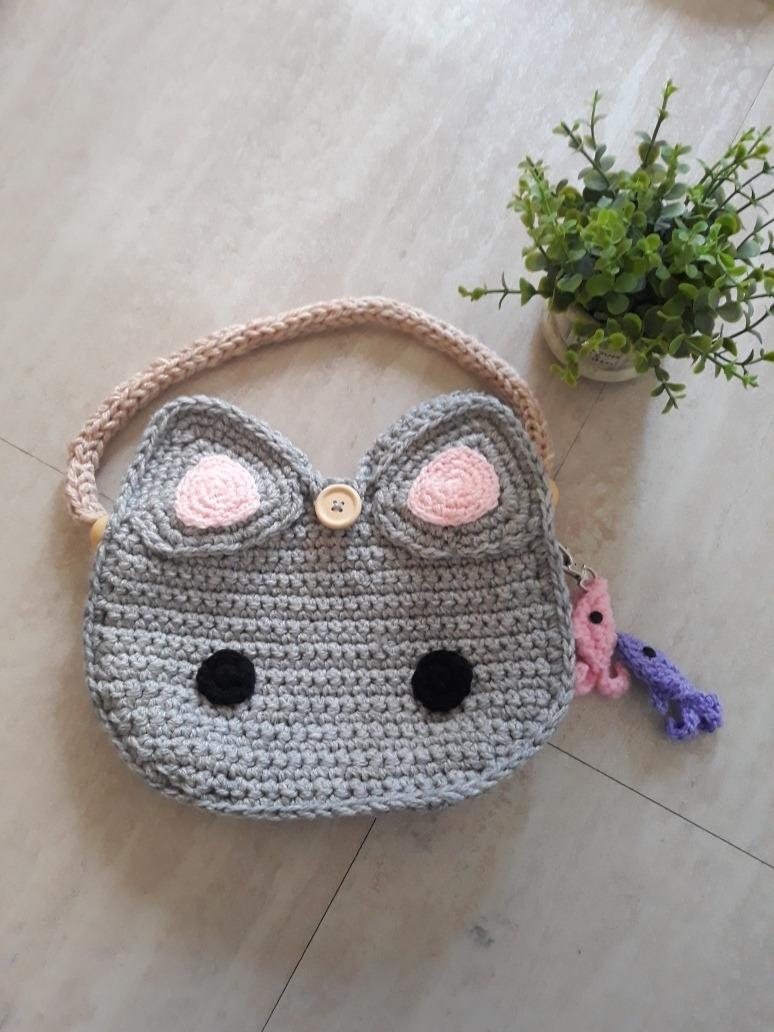 Crochet Bolsa Amigurumi Gato Amigurumi Gato xoedCBWr