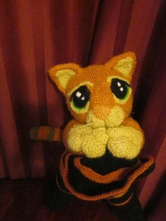 amigurumi gato con  botas
