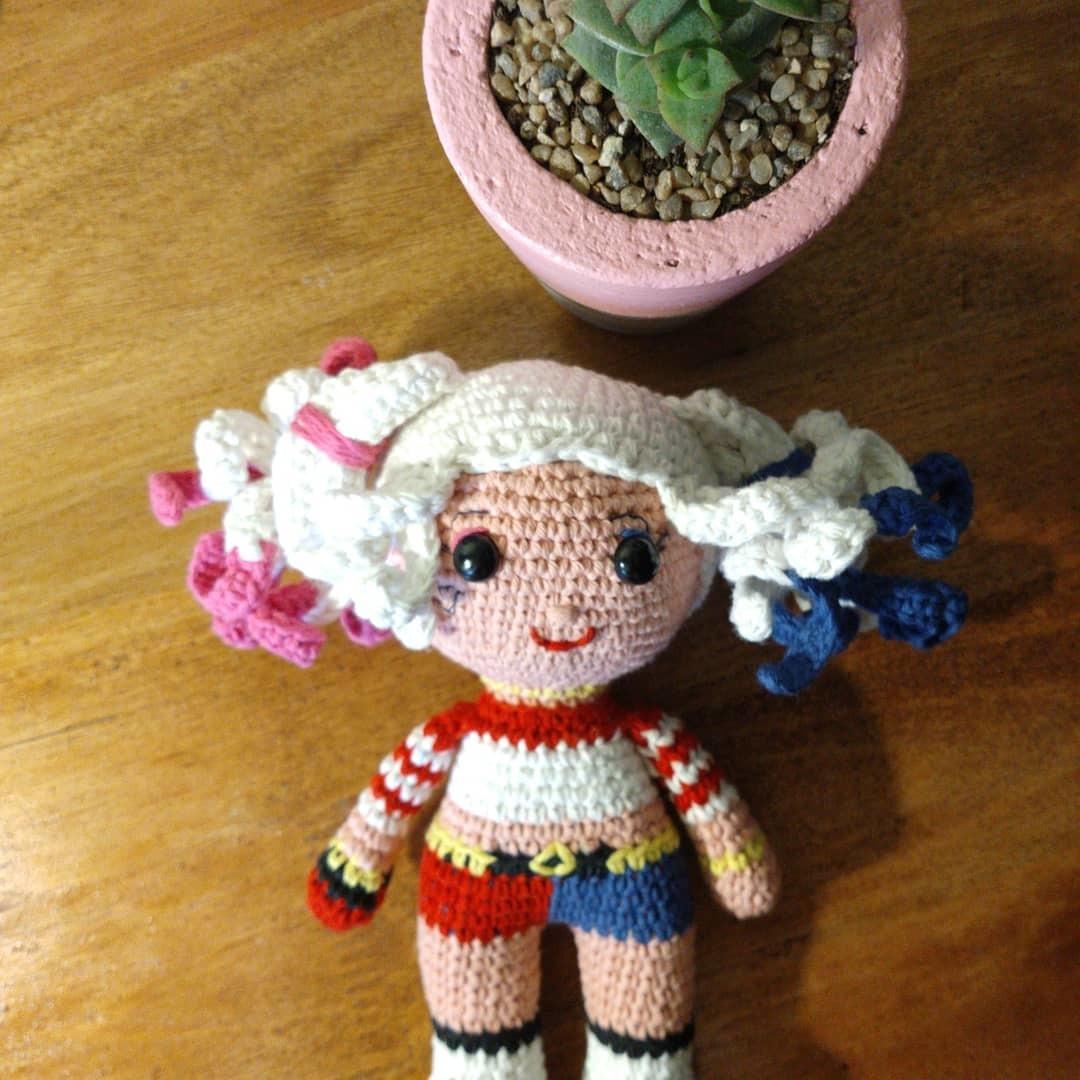 Harley Quinn Handmade Crochet Doll Bouquet Topper, Design & Craft ... | 1080x1080
