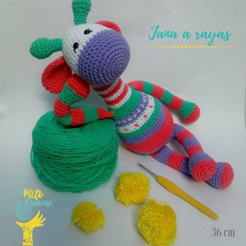 Jirafa tejida al crochet. Largo: 55 cm.... - Muñecos en crochet ...   800x800