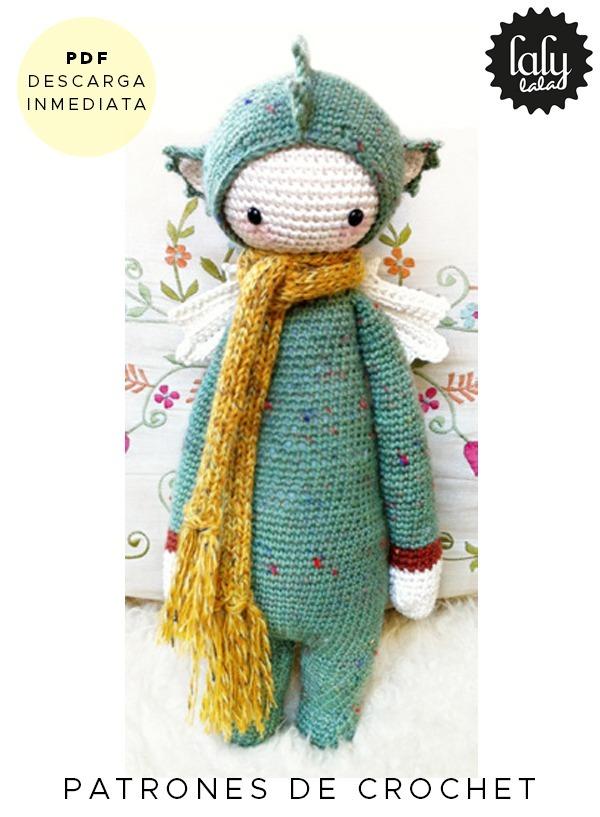Amigurumi Lalylala Dirk Dragon Patron Para Crochet En Ingles - $ 64 ...