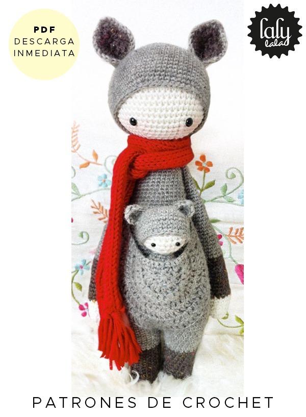 Amigurumi Lalylala Kira Canguro Patron Para Crochet Ingles - $ 64,99 ...