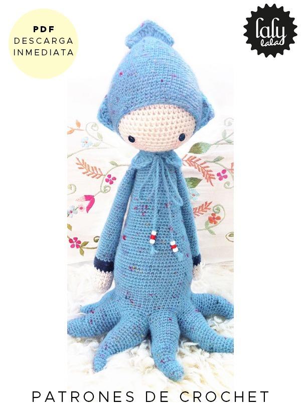 Amigurumi Lalylala Oleg Pulpo Patron Para Crochet Ingles - $ 64,99 ...