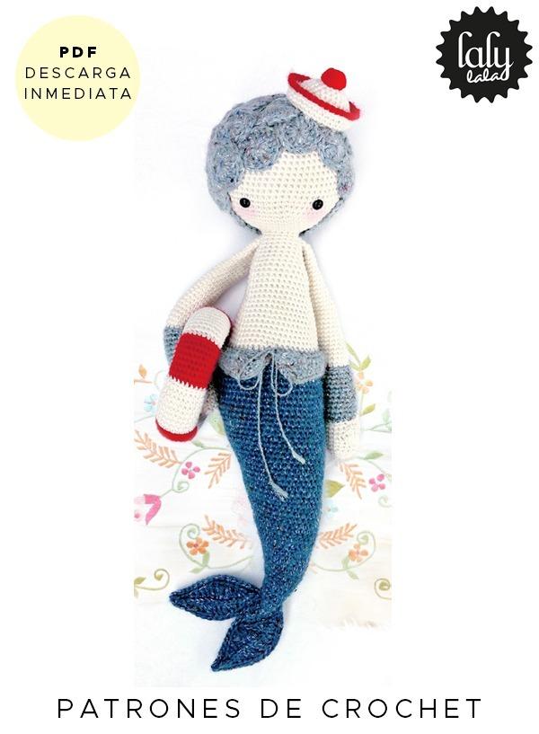 Amigurumi Lalylala Sirena Patron Para Tejer Crochet Ingles - $ 64,99 ...