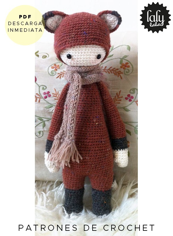 Amigurumi Lalylala Zorro Patron Para Tejer Crochet En Ingles - $ 64 ...
