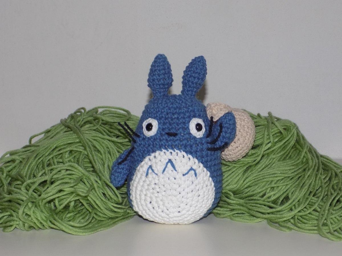 Totoro Azul Amigurumi : Amigurumi mi vecino totoro chu totoro azul bolsa
