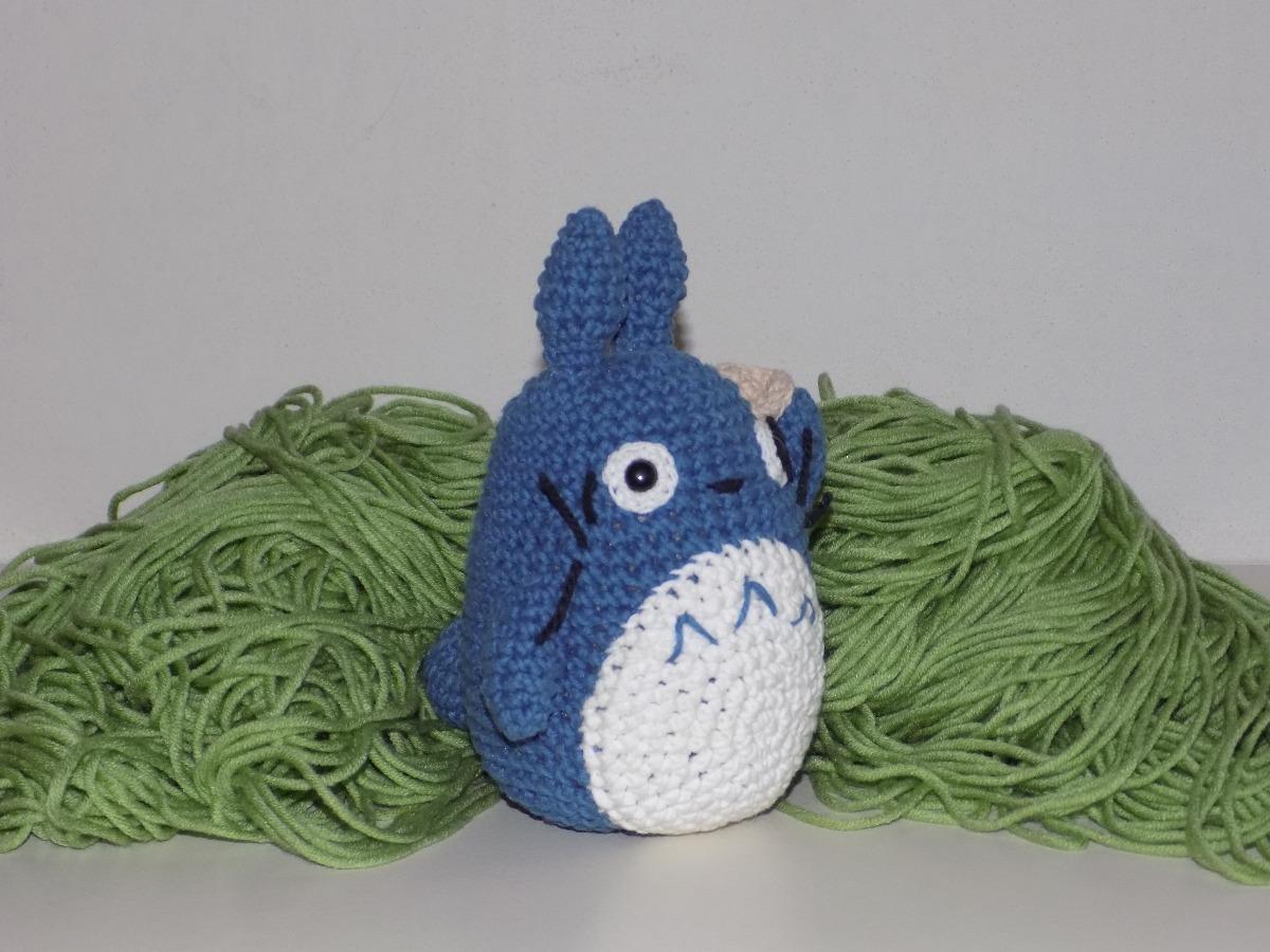 Totoro Azul Amigurumi : Amigurumi mi vecino totoro chu totoro azul ghibli
