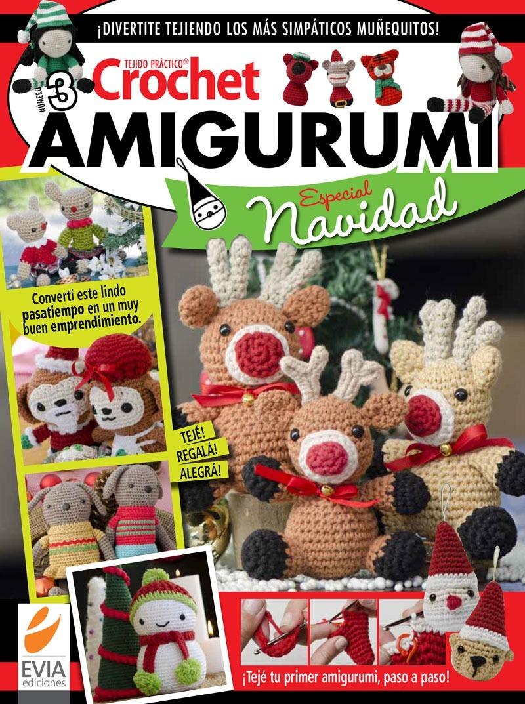Patrón 5 Amigurumis Navideños, Patrones, Amigurumi | Amigurumi ... | 1073x800