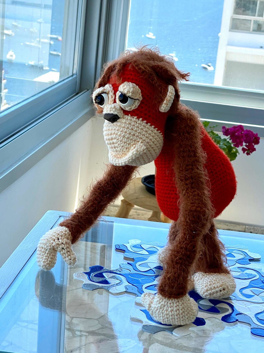 Orwell the Orangutan crochet amigurumi monkey toy! What a fun ... | 1200x900
