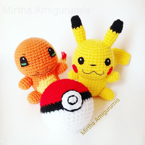 amigurumi pikachu anime pokemon