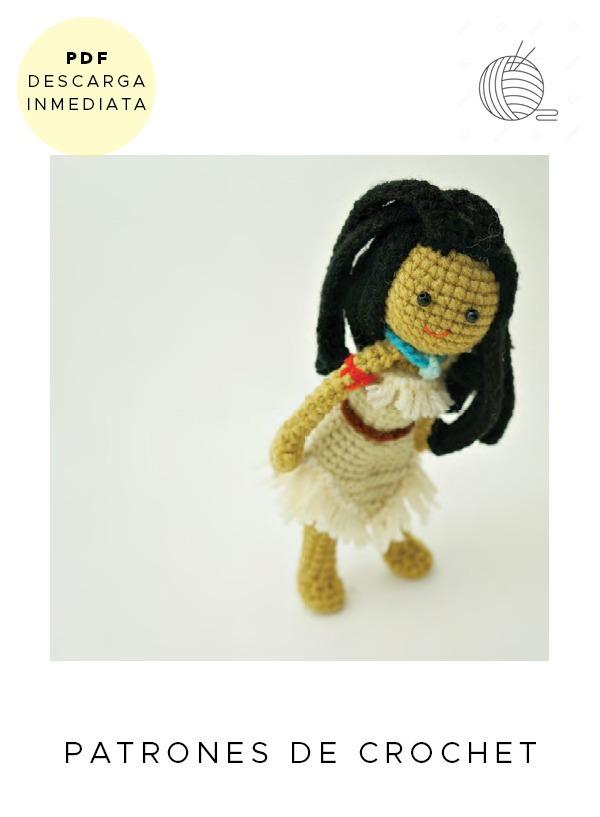 Amigurumi Pocahontas Disney Patrón Para Tejer Muñeco Ingles - $ 64 ...