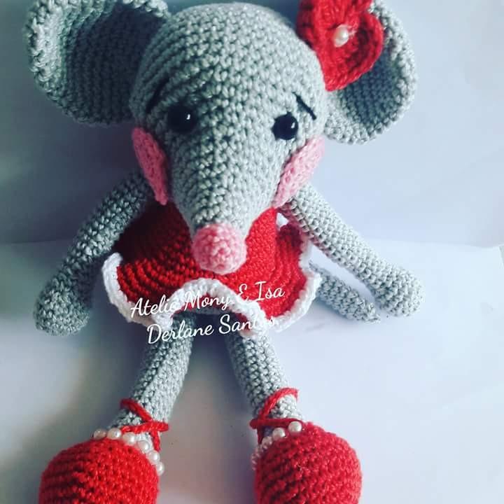 ratinha bailarina em crochê amigurumi parte2 - YouTube | Bichinhos ... | 720x720