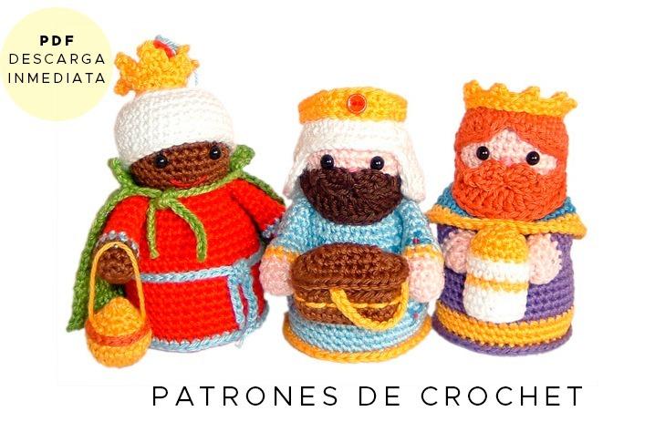 Amigurumi Reyes Magos Patrón P/ Tejer Muñeco Crochet Ingles - $ 64 ...