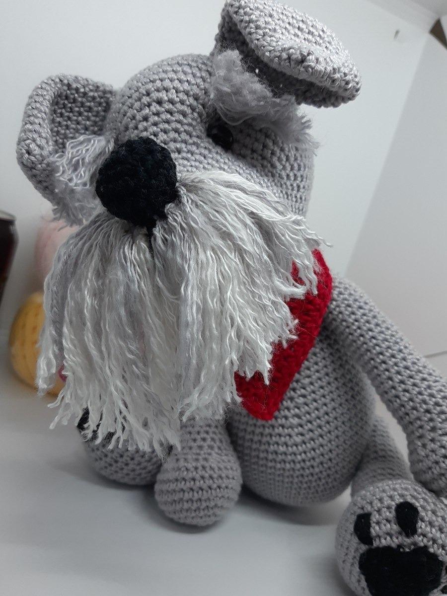 Receita Amigurumi Cachorro de Crochê Schnauzer em PDF no Elo7 ... | 1200x900