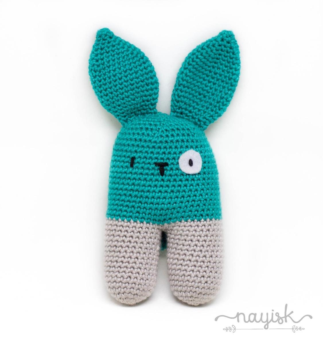 2176a09b1 Amigurumi Sonaja Crochet Ganchillo Conejo Bipedo Verde