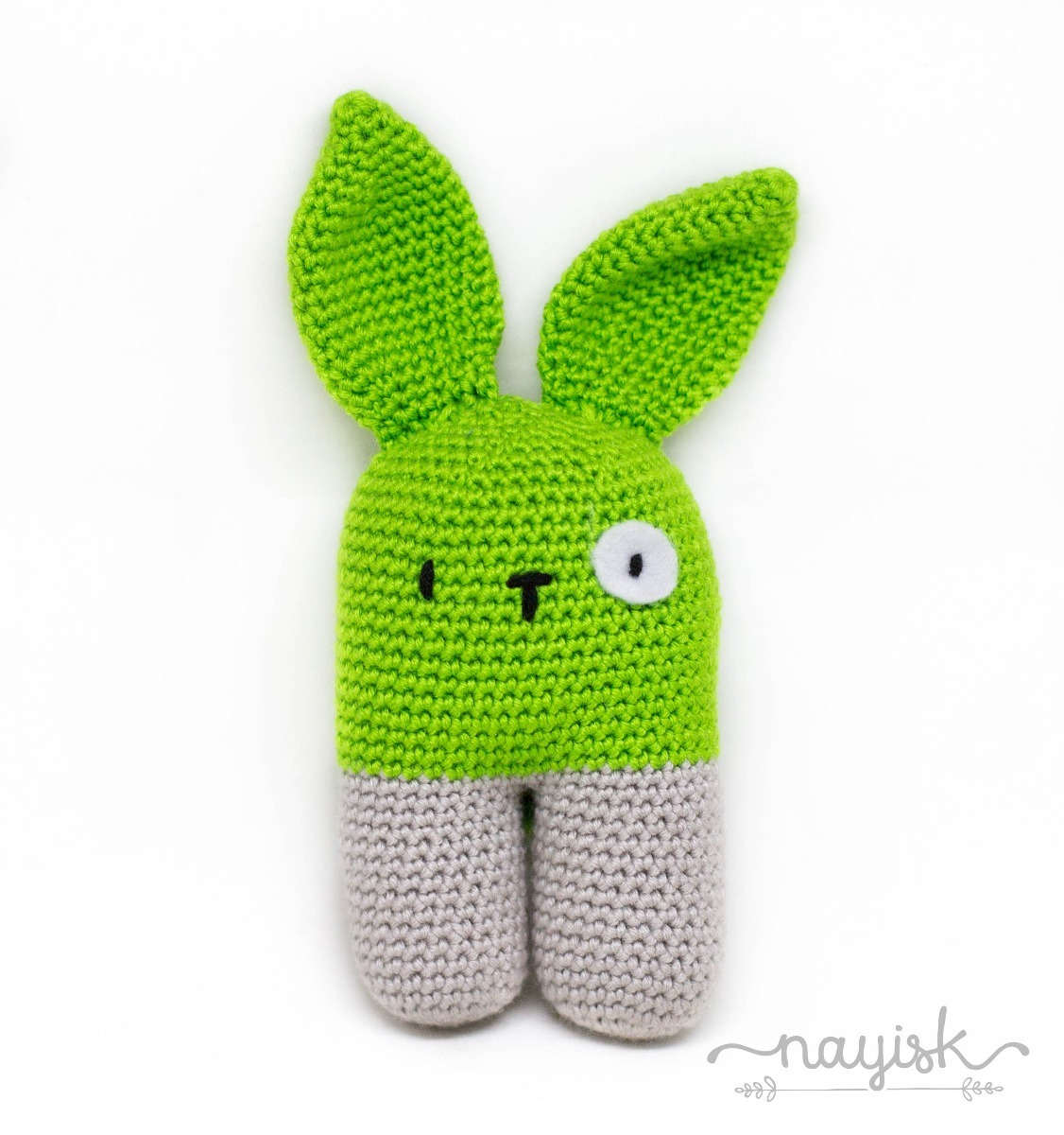 37a4ba07b Amigurumi Sonaja Crochet Ganchillo Conejo Bipedo Verde Limon