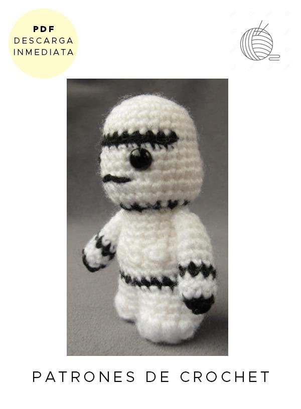 Amigurumi Stormtrooper Star Wars Patrón Para Tejer Crochet - $ 64,99 ...