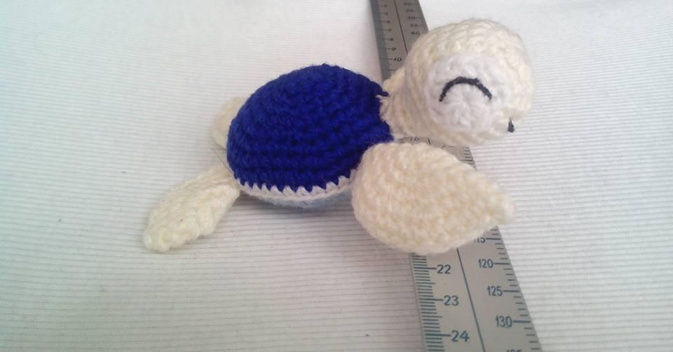 Amigurumi Tortuga Tejida Estambre Acrilico Skay Crochet 12cm ...