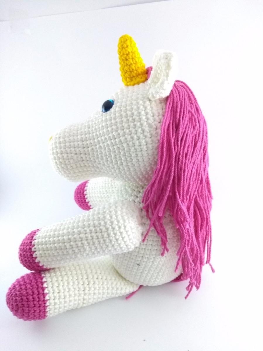 Receita de unicórnio de crochê fofinho - Amigurumi de crochê | 1200x899