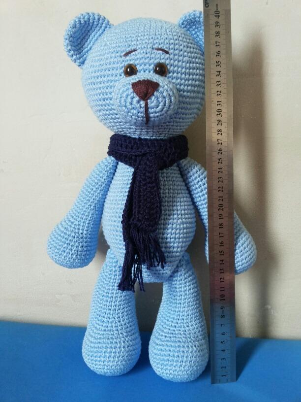 Urso de Cachecol em Amigurumi no Elo7 | Lollô Criative (BBF0D6) | 816x612