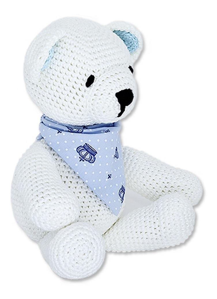 Ursinho de crochê com cachecol - linha Anne dupla | 1038x753
