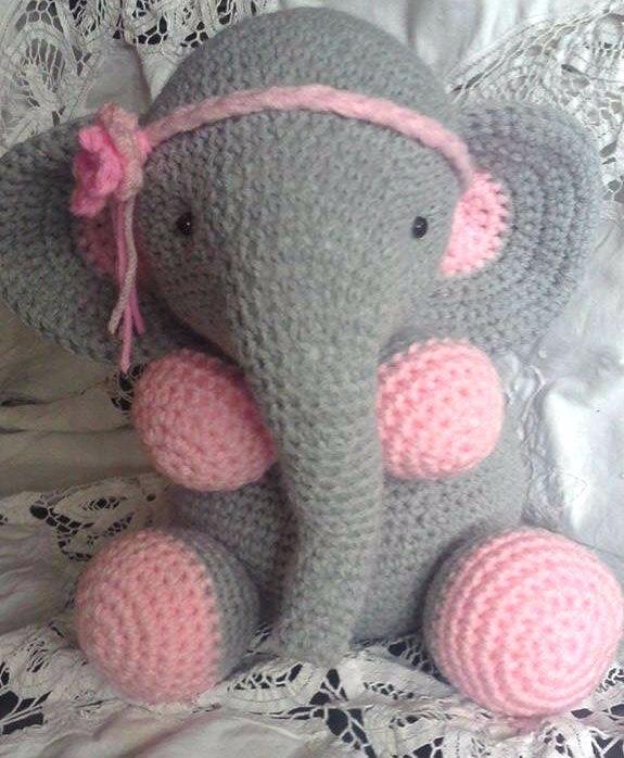 Amigurumis Animales Tejidos Al Crochet Elefante - $ 650,00 en ...
