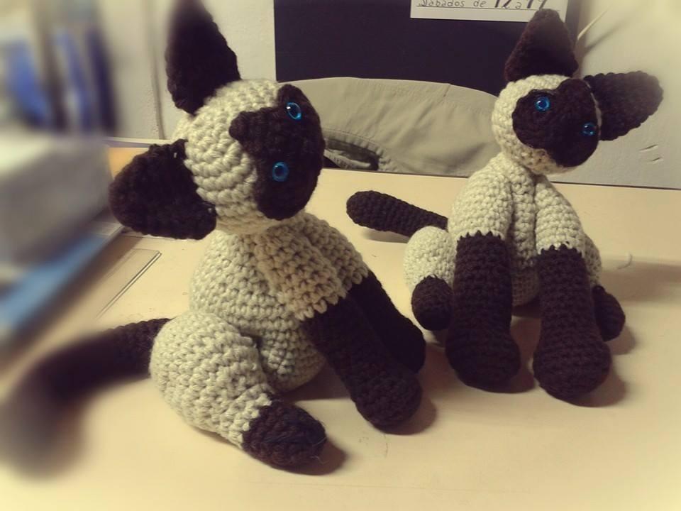 Amigurumis Gato Siames : Amigurumis gato siames crochet en mercado libre