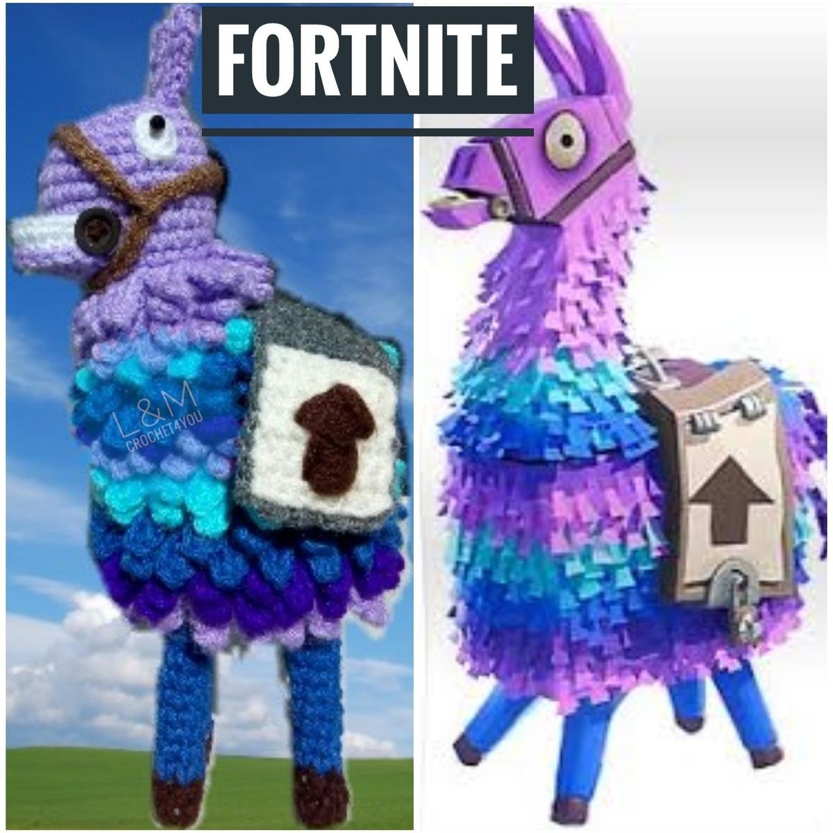 Fortnite Llama Piñata Tomate Amigurumi Crochet Muñeco Decarl ... | 1200x1200