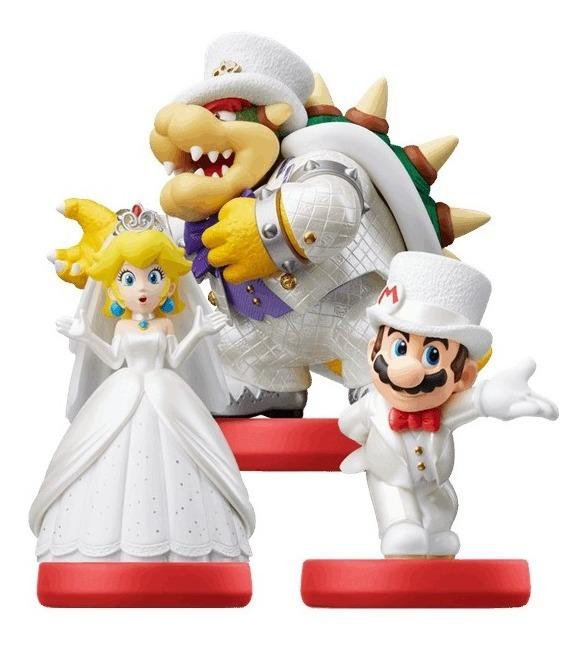 Amiibo Mario Peach Bowser Mario Odyssey Wedding Nintendo