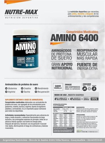 amino 6400 comprimidos masticables nutremax