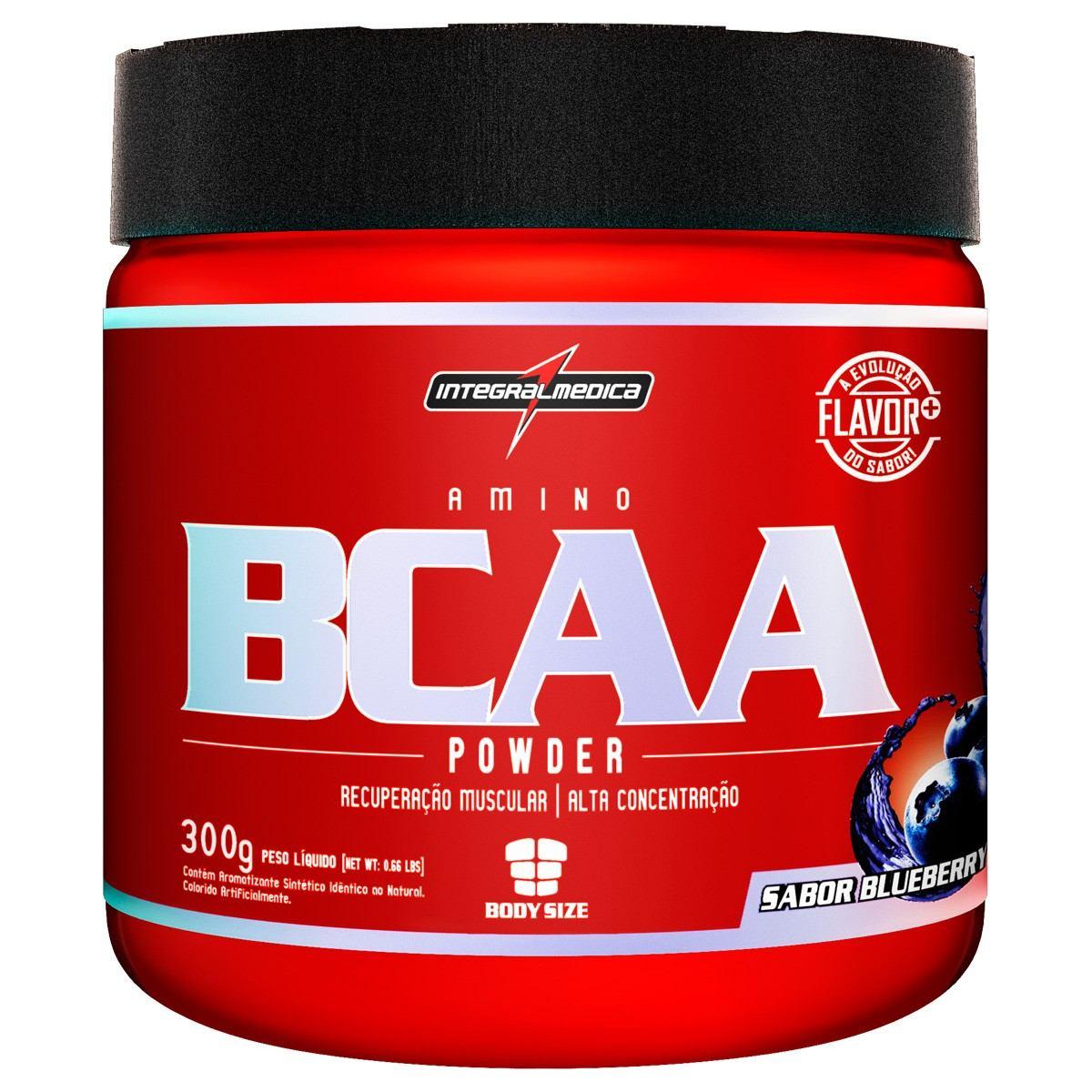 d64f74152 Amino Bcaa Powder (300g - Blueberry) Integralmédica - R  69