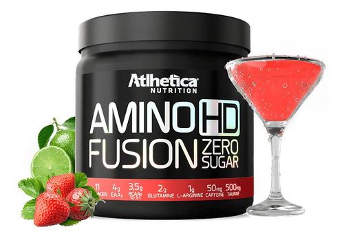 amino hd fusion 450g morango/limão - atlhetica nutriton