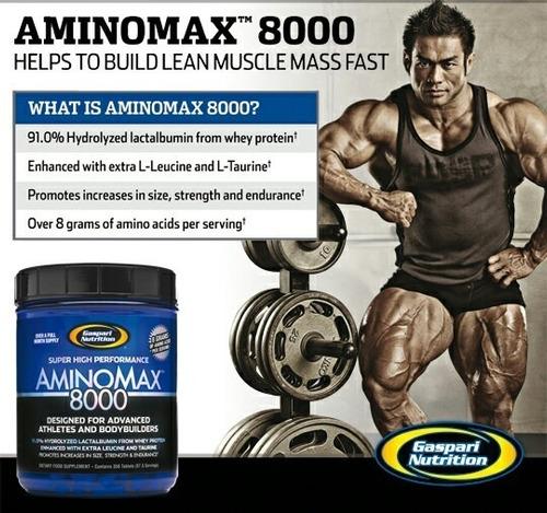 amino max 8000 gaspary nutrition (88 serv)