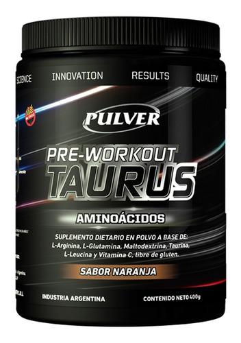 amino taurus 400 gr pulver fuerza potencia energia pre work