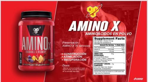 amino x (70 servicios) - aminoacidos - bcaa - envio gratis
