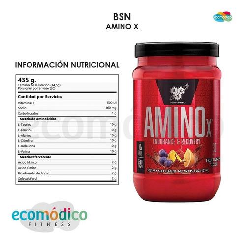 amino x bsn 435gr - aminoacidos 30 servicios