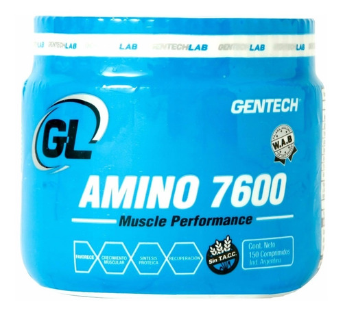 aminoacido amino 7600 gentech 150 tab - masa muscular