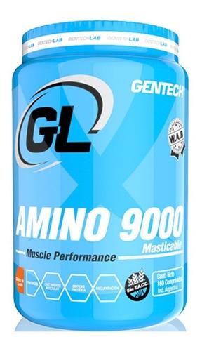 aminoacido masticable amino 9000 gentech 160 tab