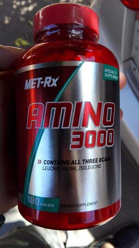 aminoácidos amino 3000 180 cápsulas met-rx