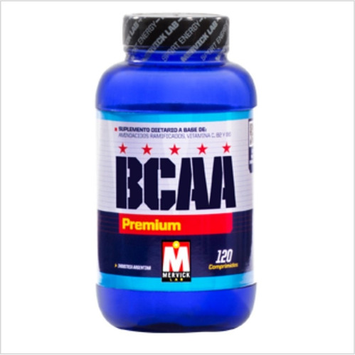 aminoacidos mervick amino ramificado bcaa premium x 120tab